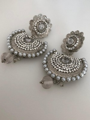 Stunning Silver Crystal Earrings