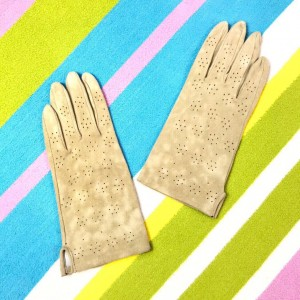 1960s Vintage Tan Real Suede Leather Gloves Medium size 7.5
