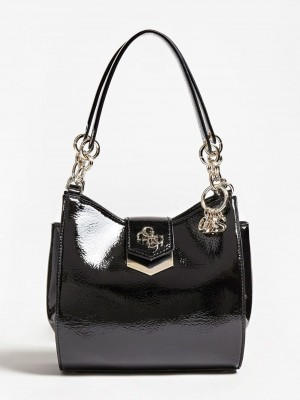 100% Genuine Guess Patent look handbag in Black  Original price over