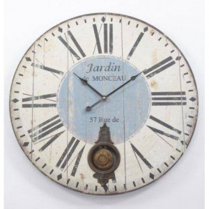 ?WOOD PENDULUM CLOCK WITH ROMAN NUMERALS 58CM? ?£25.99?
