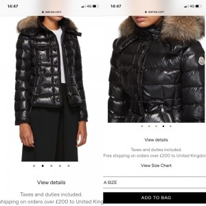 Genuine Moncler coat