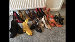 Assortment of heeledshoes size 3 £5 A pair Collection Arnold Nottingh