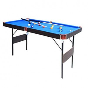 Snooker/pool table with folding legs