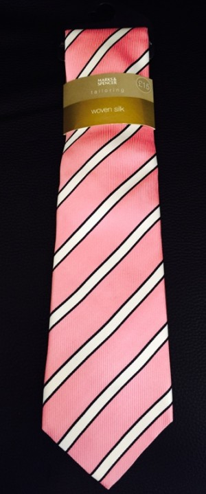 Marks & Spencer woven silk tie