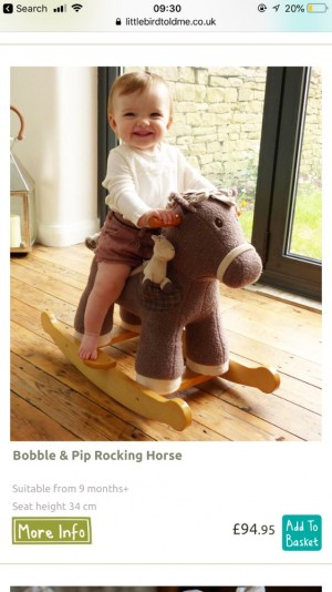 Little bird told me rocking horse