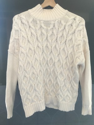 'Apricot' Cream Cable Knit Jumper - Size 10
