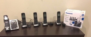 Five Panasonic wireless telephones. Used but in really good condition. Really good deal.