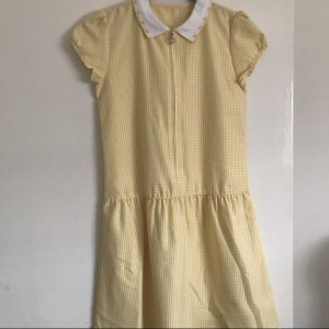 Yellow school summer dress
