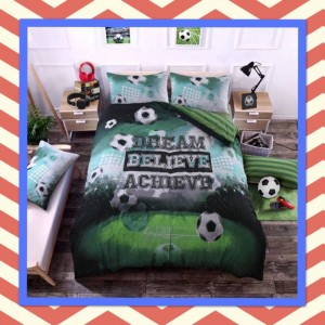 Football Dream Believe Achieve Duvet Set