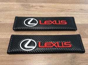 2X Seat Belt Pads Carbon Gift CT200H RX450H IS250 IS300H NX300H GS300