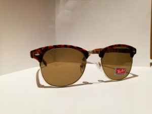 Ray ban clubmaster sunglasses  brown £60