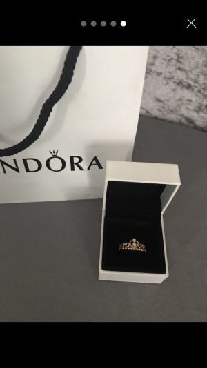 Pandora Rose Gold Princess Ring