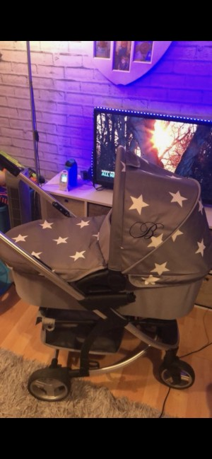 My Babiie Grey Star 3in1 travel System