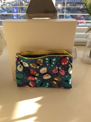 Homemade makeup bag with lining inside