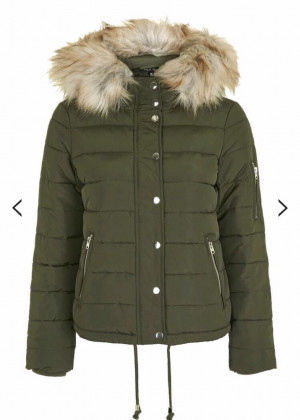 TopShop green coat, size 8/10
