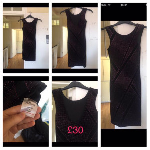 Sparkly velvet dress size 8