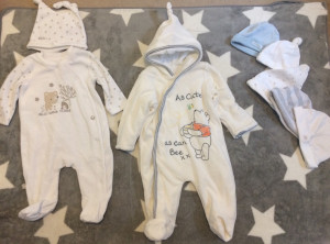0-3 months baby clothes worn once