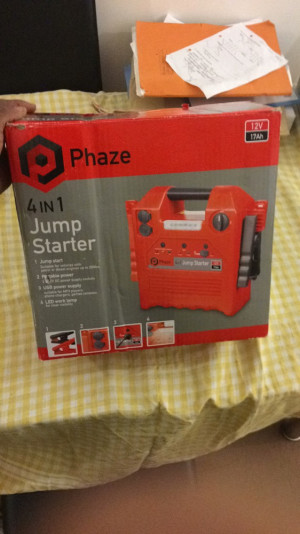Phaze 4 in 1 Jump starter and it comes with a master motorbike jump starter