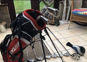 Dunlop golf bag and mixed Dunlop and M9 club
