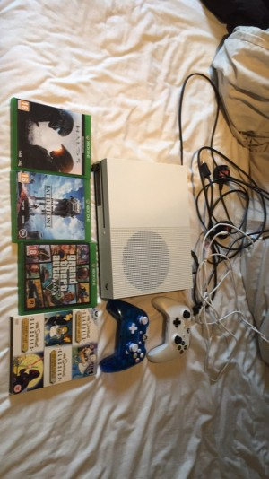 Xbox one S with games, and controllers read details for info