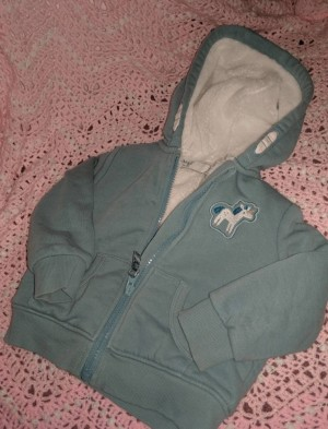 Super thick and cosy fluffy lined unicorn zip up hoodie  Like new  M&S