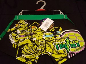 turtles boxers 2 pairs age 10/11 yrs