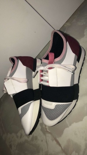Balenciaga runners white and pink size 4