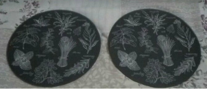 2 x Glass Plate coasters