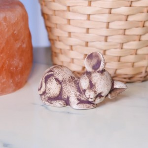 Hand Painted Sleeping Mouse Decorative Ornament