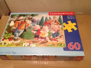 Three Little Pigs story  - Puzzle