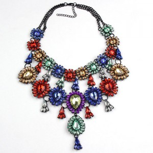 Stunning Multi-Coloured Statement Necklace