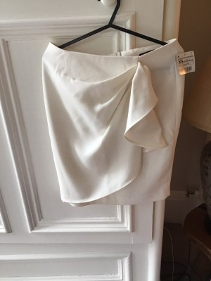 Zara Waterfall skirt white size 6