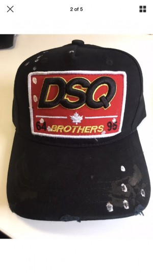 DSquared2 Distressed Black Cap