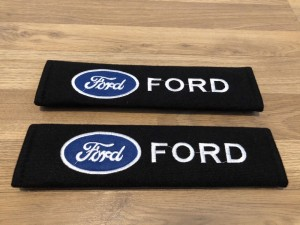 2X Seat Belt Pads Cotton Gift Ford Focus Mondeo Fiesta Kuga ST RS C Sp