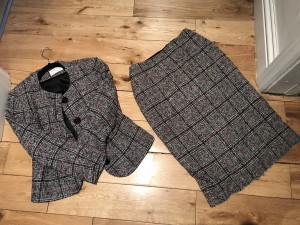 Vintage tweed 2 piece suit classic classy chic sophistication 8