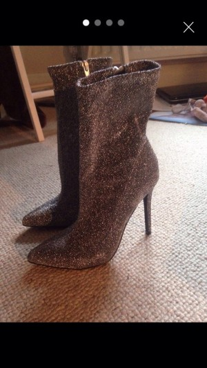 Brand new stiletto boots - sparkly