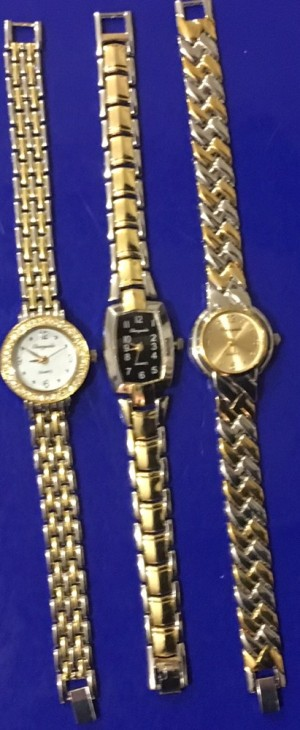 Ladies Jewellery 3xChaotonda Rolled Gold Working Cubic Zircon Quartz