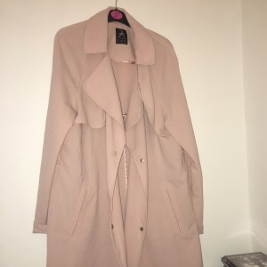 Nude pink trench coat