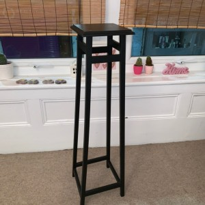 Black Tall Bedside Table