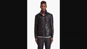 men's diesel wire reversible jacket