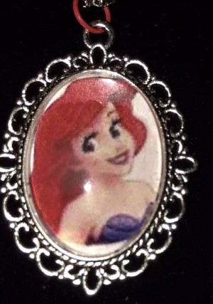 Disney AREIL cameo necklace