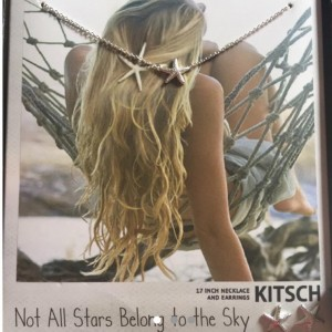 Kitsch Starfish Night Sky Necklace and Earrings Set in Silver Brand ne