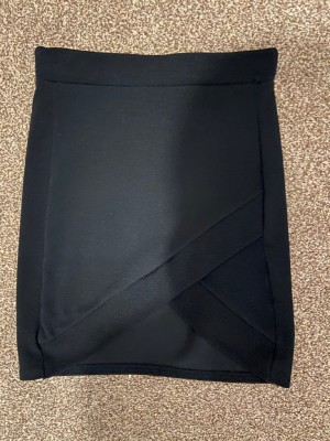 Black Crossed Skirt