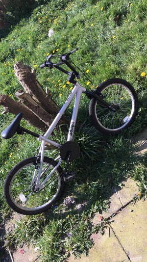 BMX push bike one wheel is popped but got a spare one you can take
