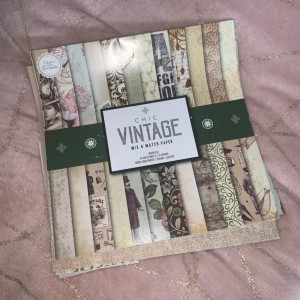 chic vintage victorian style card