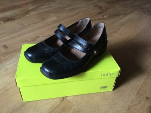 Ladies Hotter Black Leather Shoes Size 6.5